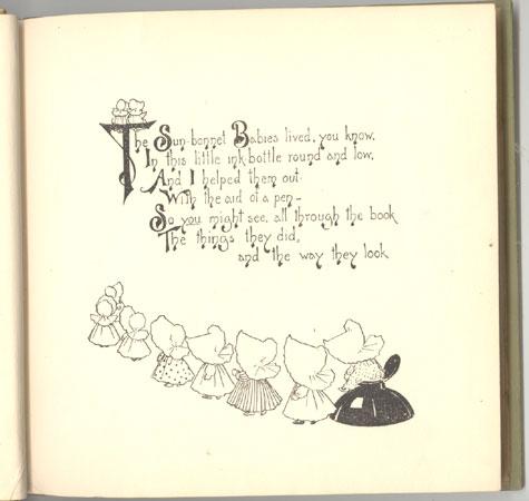 Sun-bonnet Babies Introductory Picture